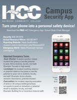 Cover of Security: Issue Campus Security App Flyer